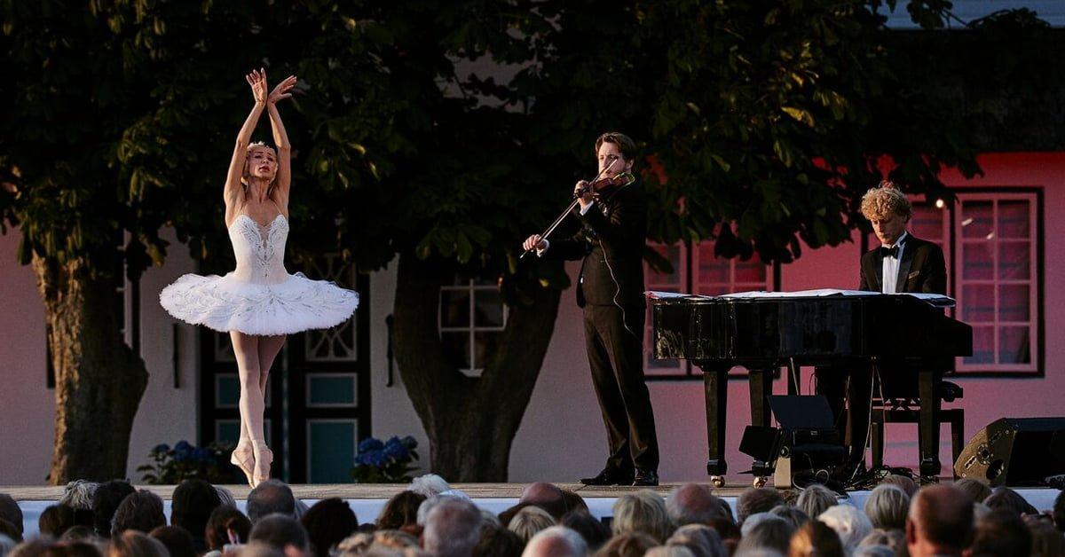 Iana Salenko i Den døende svane med violinist Niklas Walentin, 2017